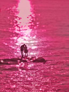 Couple in the light #color #pink
