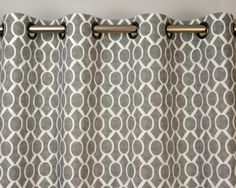 storm gray white sydney geometric honeycomb curtains grommet 84 96 108 or 120 long by 25 or 50 wide optional blackout or cotton lining