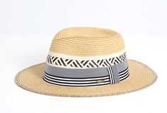 CC Exclusives Straw Panama Hat for Women in Black ST-350