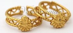 gold toe rings india | Metti Bichiya Micro Gold toned Indian Style Toe Ring Feet Jewelry - 1 ...