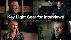 Key Light Gear for Filming Interviews. Get more info and links here: http://dslrvideoshooter.com/my-key-light-gear-for-filming-interviews  I...