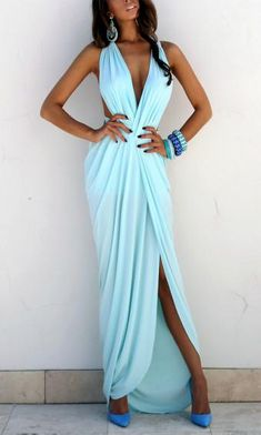 Heaven dress love this whole look Cute Summer Dresses, Beach Dresses, Blue Dresses, Casual Dresses, Prom Dresses, Night Outfits, Classy Outfits, Beautiful Outfits, Fashion Outfits