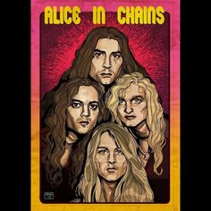 Sean Kinney Mike Starr Layne Staley Jerry Cantrell Alice In Chains Mike Inez, Mike Starr, Black Hole Sun, Jerry Cantrell, Layne Staley, Alice In Chains, Bones, Metal, Metals