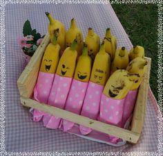 Bananinhas divertidas #picnicdabelinha