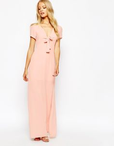 Image 1 of Love Bow Front Maxi Dress