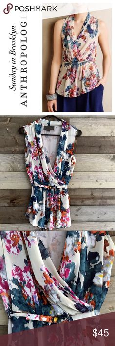 Anthropologie Sunday in Brooklyn Floral Blouse Beautiful and bold just like you. Anthropologie Tops Blouses