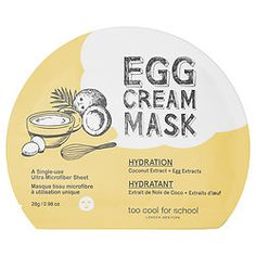 Too Cool For School - Egg Cream Mask Hydration  #sephora