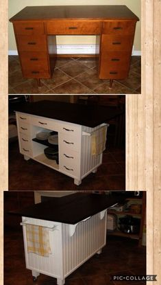 How To Repurpose a Dresser Without Drawers – Easy DIY Repurposed Furniture Makeover Ideas - New ideas Refurbished Furniture, Farmhouse Furniture, Repurposed Furniture, Dining Furniture, Furniture Projects, Furniture Making, Furniture Makeover, Painted Furniture, Diy Furniture