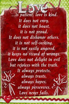 1Corinthians 13: 4-7