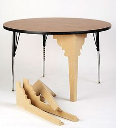 Dining Room Table Makeover - Click here for the step-by-step instructions to Revive an Institutional Table - You've seen them at schools, conference centers, and libraries. Bring one of these institutional tables home and transform it into something a little more cozy.