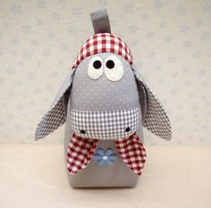 """Decorative Objects – Donkey """"Wilma"""" – Doorstop – a unique product by on DaWanda Animal Sewing Patterns, Stuffed Animal Patterns, Doll Patterns, Fabric Toys, Fabric Crafts, Sewing Crafts, Door Stop, Softies, Decorative Objects"""