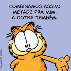 Quando perguntam se você quer dividir a sobremesa. Garfield Cartoon, Garfield And Odie, Mom Jokes, Funny Jokes, Hilarious, Relationship Memes, Relationships Love, Mexican Problems, Spanish Jokes