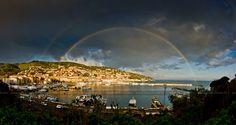 just a moment between rainy and sunny sky #argentario #portosantostefano #maremma #tuscany #italy #Rainbow (Marco Solari)