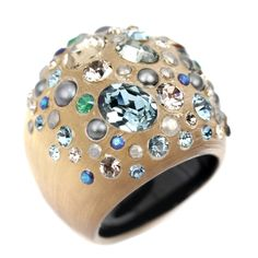 Alexis-Bittar Dust-Gold-Swarovski-Crystal-Ring