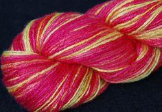 Bamboo Yarn Rose Mutabilis Hand Dyed Vegan Organic by Klarabela
