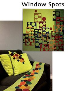 Wow, love this quilt and the accessories... very contemporary.  http://chefab.cherrywoodfabrics.com/product/window-spot