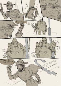 RoadHog is a good body guard by SeniorPotato