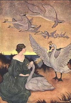 Milo Winter, Wild Swans (similar to The Six Swans--a favorite fairy tale of mine).