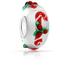 Bling Jewelry Peppermint Cane Bead ($8.99) ❤ liked on Polyvore featuring jewelry, pendants, bead-charms, charms, white, beading charms, bead charms, beading jewelry, christmas jewelry and charm jewelry