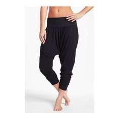 Hard Tail Roll Waist Harem Pants via Polyvore featuring pants