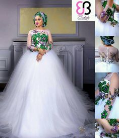 The year 2016 is bringing in so many mouth-watering trends in the wedding industry and we are amazed by the enchanting silhouette the bridal fashion designers are creating. For starters,… Traditional Wedding Attire, African Traditional Wedding, Traditional Dresses, African Print Dresses, African Fashion Dresses, African Dress, Nigerian Fashion, Ghanaian Fashion, African Prints