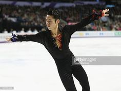 Daisuke Takahashi of Japan competes in the Mens Free Skating during the 2013 ISU World Figure Skating Championships at Budweiser Gardens on March 15...