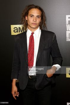 Actor <a gi-track='captionPersonalityLinkClicked' href=/galleries/search?phrase=Frank+Dillane&family=editorial&specificpeople=13774319 ng-click='$event.stopPropagation()'>Frank Dillane</a> attends the season 2 premiere of 'Fear the Walking Dead' at Cinemark Playa Vista on March 29, 2016 in Los Angeles, California.