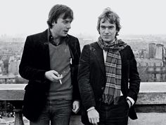Christopher Hitchens (left) and Martin Amis in 1980.