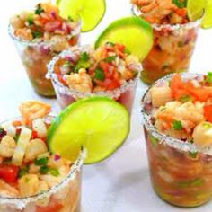 "A must have at my wedding- shrimp ceviche ""shots"" :)"