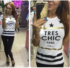 2016 New Arrivals T Shirt Women TRES CHIC Printed T-shirt Women Tops Tee Shirt Femme Fashion Summer Plus Size Women Clothing
