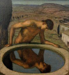 """19. Franz von Stuck, """"Narcissus"""" (1926), oil on panel"""