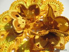 CROCHET BUTTERFLY 6 (pc) , Crochet Yellow Brown Butterfly, Decorations Butterflies, Crochet Easter Accessories, Cyprus Crochet Lyubava. $24.99, via Etsy.