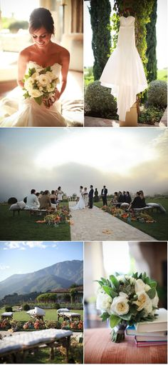 Beautiful pose of the bride in the upper left hand corner.  That shot from slightly above is also super flattering.