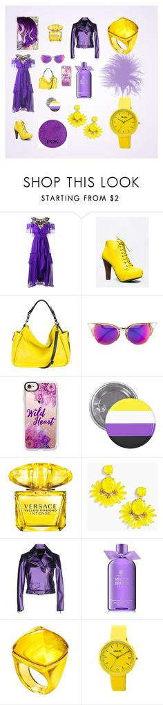 """Colores Complementarios"" by cnamikawa on Polyvore featuring moda, Alberta Ferretti, Qupid, MOFE, Fendi, Casetify, Versace, J.Crew, Boutique Moschino y Molton Brown"