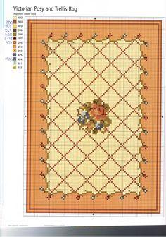 The minis Rakel: Schematic cross stitch rug