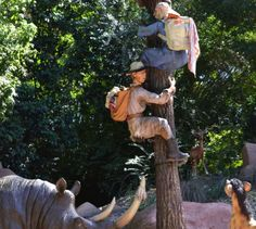 We warned him about the rhinos but he didn't listen … he'll get the point in the end....Jungle Cruise