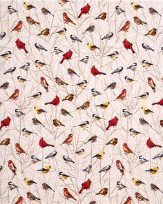 cream bird on branch fabric Timeless Treasures USA