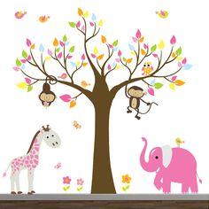 Jungle Vinyl Wall Decals - cute for a little girl