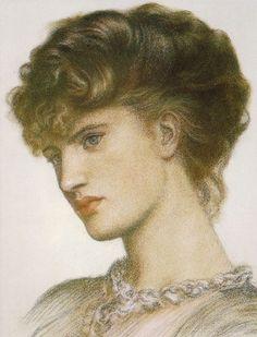 Portrait of a Lady : Dante Gabriel Rossetti : Museum Art Images : Museuma