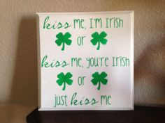 St Patrick's Day Sign St. Patrick's Day Decor by OneChicShoppe, $22.00
