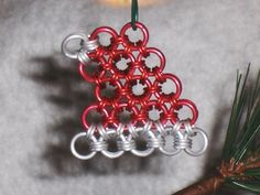 Chainmaille Santa Hat Ornament