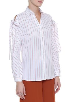 Camisa Stripe Tricoline Laço