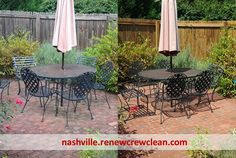 http://nashville.renewcrewclean.com/nashville-pressure-washing-service - Check out the beautiful vibrant brick patio and the fence in the background after they've been clean by Renew Crew. Proprietary process is similar to pressure washing but more gentle. Eco-friendly and won't damage plants.  Free Estimates http://nashville.renewcrewclean.com  Renew Crew of Nashville 4825 Trousdale Dr. Suite 103 Nashville, TN 37220 (615) 454-2351