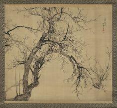 Blossoming Plum Tree (1834)  Yamamoto Baiitsu