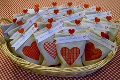 Wow, this might just be the most impressiev DIY Valentine's Day goodie bags ever seen. I'm happy when I can find 20 matching bags. Inspired.