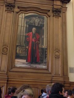 University visit with my school today! Most interesting painting in the room