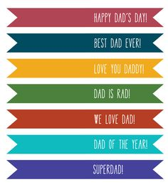 (free!) Printable Father's Day Gift Tags