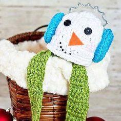 751761952af Crochet Snowman Hat Beanie Scarf Set Infant Newborn Baby Toddler Child  Adult Handmade Photography Photo Prop Baby Shower Gift