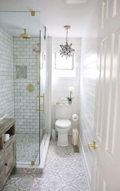 Before and After Bath Renovation - Home Bunch Interior Design Ideas - . - Before and After Bath Renovation – Home Bunch Interior Design Ideas – - Bathroom Design Small, Bathroom Interior Design, Modern Bathroom, Gold Bathroom, Minimalist Bathroom, Bathroom Designs, Small Bathroom With Window, Tiled Walls In Bathroom, Bathroom Shower Tiles