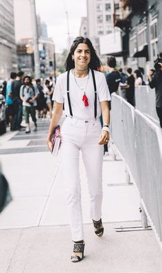 Your Guide to the Best All-White Outfits via @WhoWhatWear